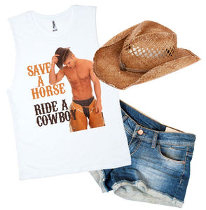 RIDE A COWBOY PRINT - aussie-shirt-co
