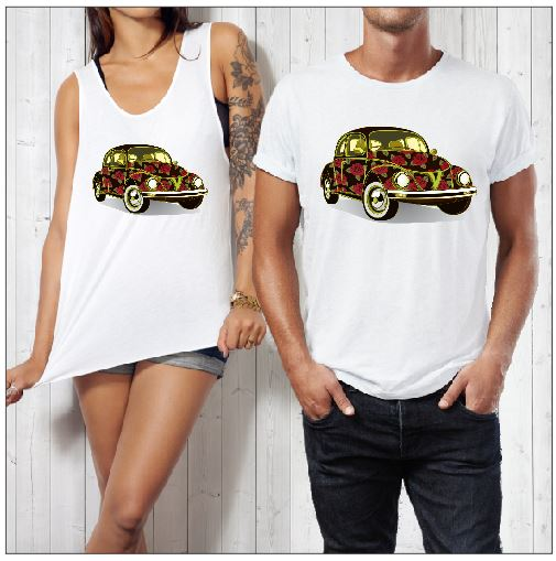 ROSE VW PRINT - aussie-shirt-co