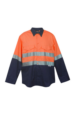 RAMO - 100% Combed Cotton Drill Long Sleeve Shirt - With Your Logo LHC - 3M CODE S007LP - aussie-shirt-co