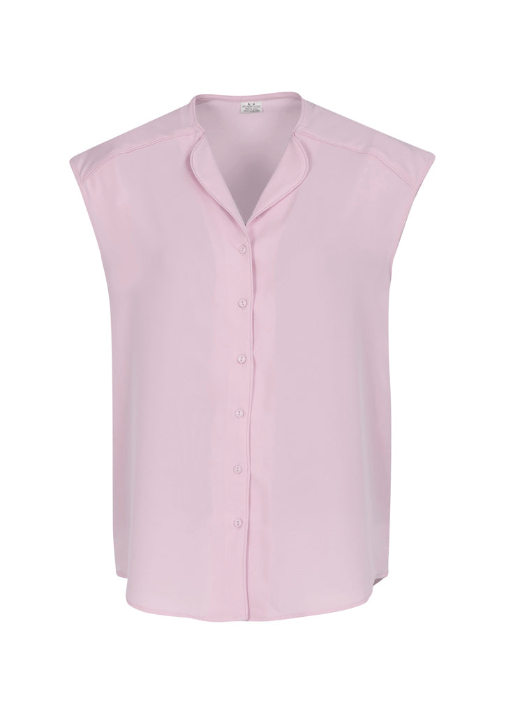 shirts blouses lily sleeveless polyester business school education health aged care easy fit