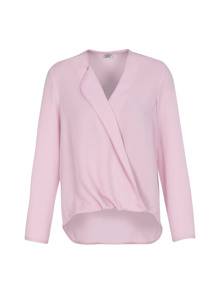 shirts blouses lily long sleeve polyester business school education health aged care easy fit