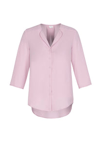 shirts blouses lily 3/4 sleeve polyester business school education health aged care easy fit