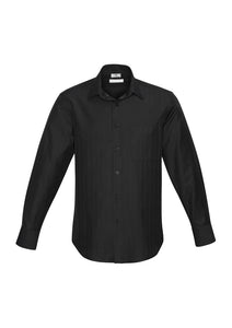 preston business cotton hospitality shirts blends polyester classic fit male long sleeve