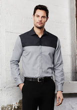 Load image into Gallery viewer, trend cotton shirts blends polyester tailored fit male short sleeve