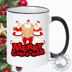 Christmas Coffee Mugs Santa Bird