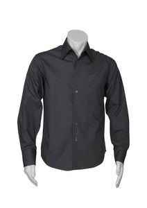 metro health aged care business cotton hospitality retail uniforms shirts blends polyester tailored fit male long sleeve