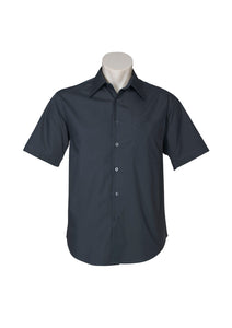 metro business cotton hospitality retail uniforms shirts blends polyester tailored fit male short sleeve