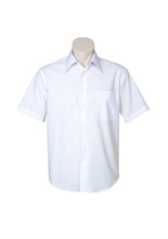 Load image into Gallery viewer, metro business cotton hospitality retail uniforms shirts blends polyester tailored fit male short sleeve