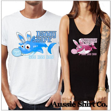 Happy Easter Shark Family Doo Doo Doo Doo Doo - aussie-shirt-co