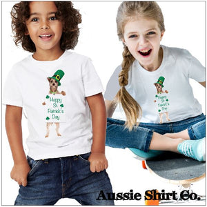 St Patricks Day T-Shirts - Dancing Dog - ASC Kids - aussie-shirt-co