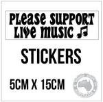 Support Live Music Bumper Sticker