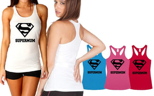 Ladies Tback Singlet - Aus Fit Super Mum - ASC T-Shirts - aussie-shirt-co