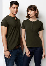 Load image into Gallery viewer, trend anything but boring business cotton shirts blends polyester semi fitted female women 3/4 sleeve