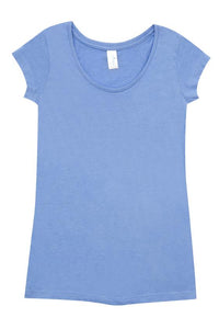 RAMO Ladies Marl Scoop Neck T-Shirt - T938LD T-Shirt Printing Australia