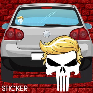 Q Anon WWG1WGA QAnon Sticker - Punisher Trump