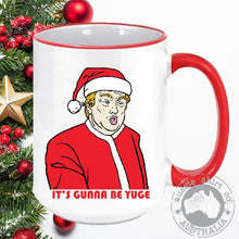 Load image into Gallery viewer, Christmas Coffee Mugs Santa Bird