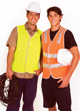 Load image into Gallery viewer, Safety Vest 100% Polyeter Vest without reflective tape - Ramo - V001HO - Yellow Jackets - aussie-shirt-co