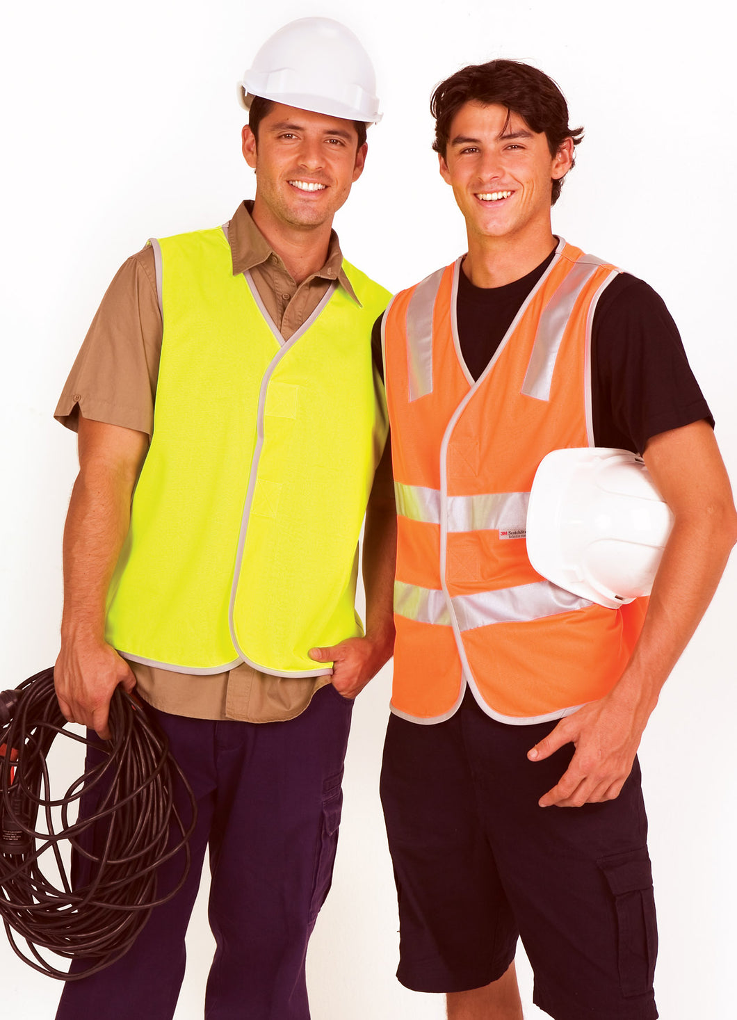 Safety Vest 100% Polyeter Vest without reflective tape - Ramo - V001HO - Yellow Jackets - aussie-shirt-co