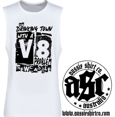 T-Shirt or Cut Sleeve -Drinking Town with a V8 problem - ASC - aussie-shirt-co