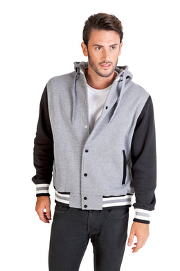 Ramo Men's Varsity Jacket & Hood - Design Your Own - Free Front Logo Print