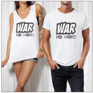 T-Shirt or Tank - WAR NO MORE - ASC T Shirts - aussie-shirt-co