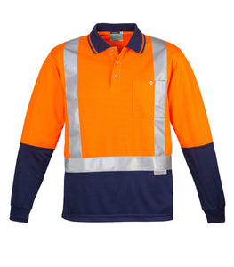 SYZMIK ZH234 - Mens Hi Vis Spliced Polo - Long Sleeve Shoulder Taped - Customize It