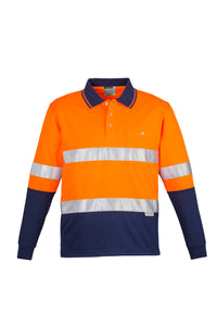 SYZMIK ZH235 - Mens Hi Vis Spliced Polo - Long Sleeve Hoop Taped Customize It