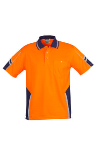SYZMIK ZH237 - Mens Hi Vis Squad S/S Polo Customize It