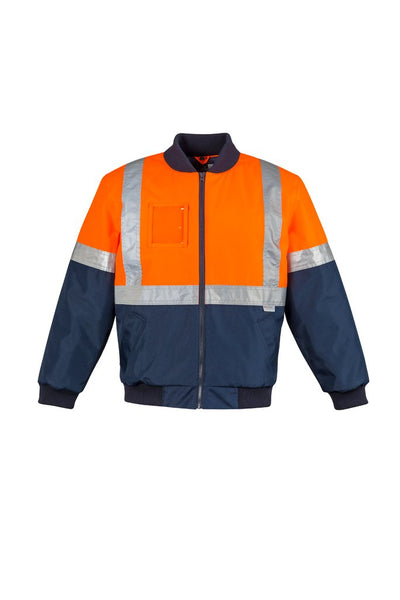 SYZMIK ZJ351 - Mens HI Vis Quilted Flying Jacket - aussie-shirt-co