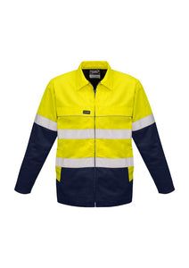 SYZMIK ZJ590 - Mens Hi Vis Cotton Drill Jacket T-Shirt Printing Australia