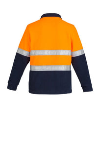 SYZMIK ZT461 - Mens Hi Vis Fleece Jumper   Hoop Taped T-Shirt Printing Australia