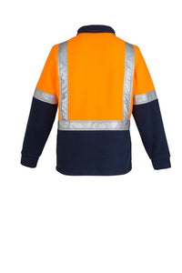 SYZMIK  ZT462 - Mens Hi Vis Fleece Jumper   Shoulder Taped T-Shirt Printing Australia