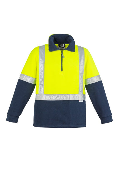 SYZMIK  ZT462 - Mens Hi Vis Fleece Jumper   Shoulder Taped - aussie-shirt-co