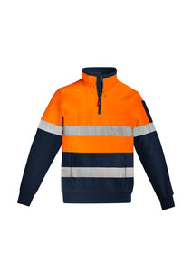 SYZMIK ZT566  - Mens Hi Vis 1/4 Zip Pullover Hoop Taped The Aussie Shirt Company