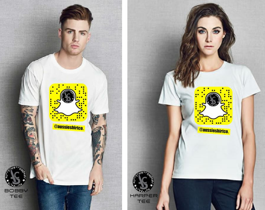 SNAP CHAT T-SHIRT PRINTS - aussie-shirt-co