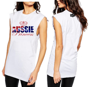 T-Shirt Tank or Cut Sleeve - Aussie Princess - ASC T-Shirts - aussie-shirt-co