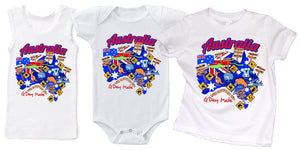 ASC Kids - G-DAY MATE Australia - Singlet Romper or T-Shirt - aussie-shirt-co