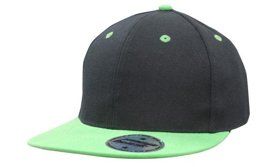 KIDS Newport Youth Size Black/Lime Premium American Twill Cap with Snap Back - aussie-shirt-co