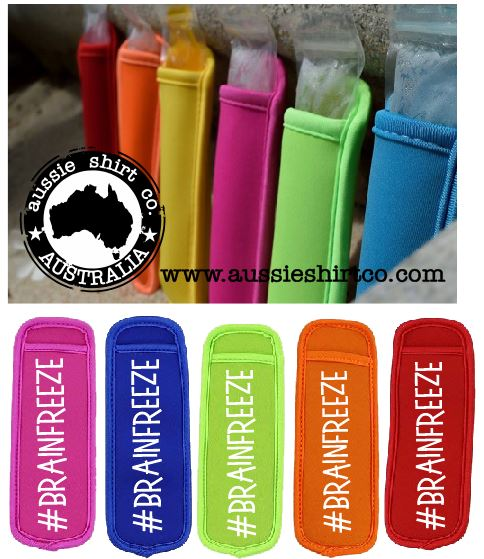 ICE POP BLOCK HOLDER COOLER - #BRAINFREEZE - aussie-shirt-co