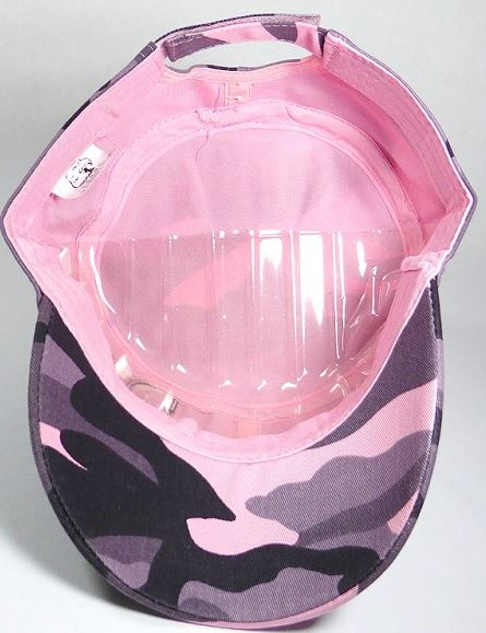 e58a56c1822d8 Pink Cadet Style Cap rhinestone cowgirl and horseshoe logo · inside of pink  Cadet Style Cap