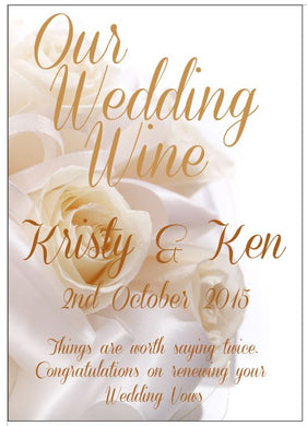 WEDDING WINE LABELS - Kristy & Ken - aussie-shirt-co