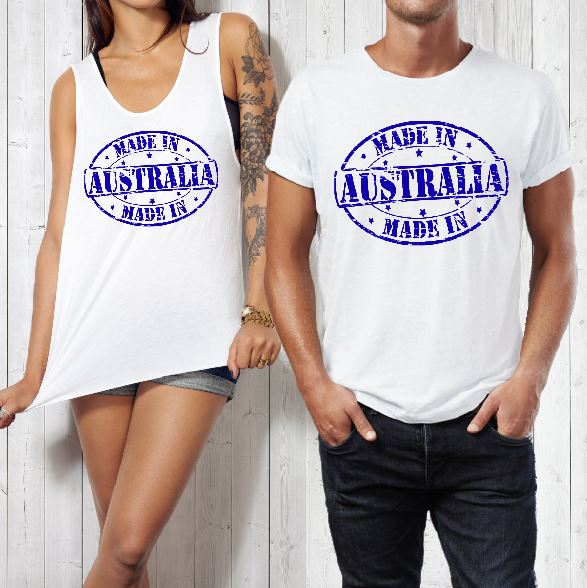 T-Shirt or Tank - Made In Australia Print - ASC T-Shirts - aussie-shirt-co