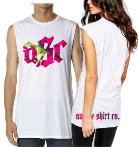 T-Shirt Tank or Cut Sleeve - Tie Dye Pink ASC - ASC T-Shirts - aussie-shirt-co