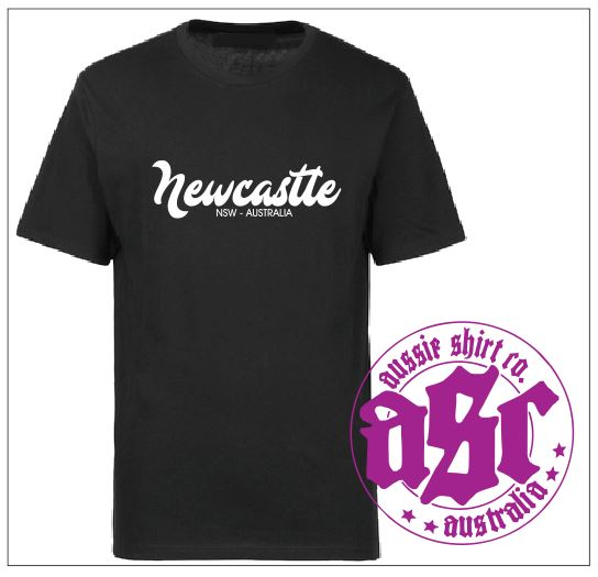 NEWCASTLE TEE BLACK - aussie-shirt-co