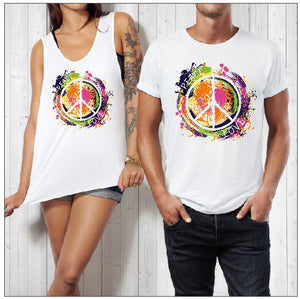 PEACE LOVE SPLASH PRINT - aussie-shirt-co