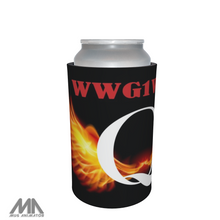 Load image into Gallery viewer, Q Anon WWG1WGA QAnon Stubbie / Can Cooler - Q