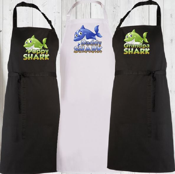 Shark Family Aprons - aussie-shirt-co