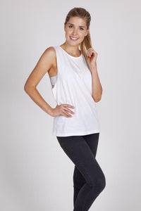 RAMO Ladies 160gsm 100% combed cotton sleeveless tee - T405LD T-Shirt Printing Australia