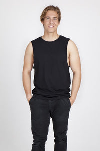 RAMO 160gsm - Mens -100% combed cotton sleeveless tee - T405MS T-Shirt Printing Australia