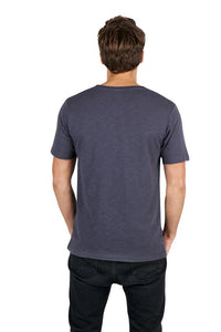 RAMO Mens Raw Cotton Wave V Neck Tee - T918TV T-Shirt Printing Australia